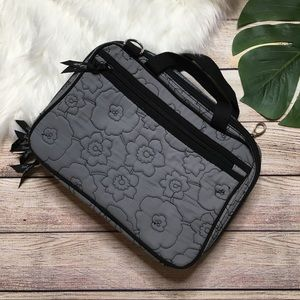 Thirty-One Gray Quilted Poppy Organizer Bag